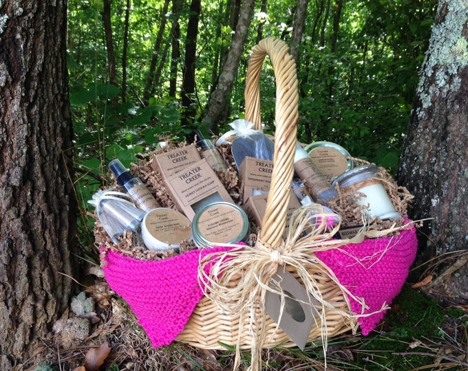 Chemo Survival Gift Basket Extra Large in Pink for Cancer Patient Support