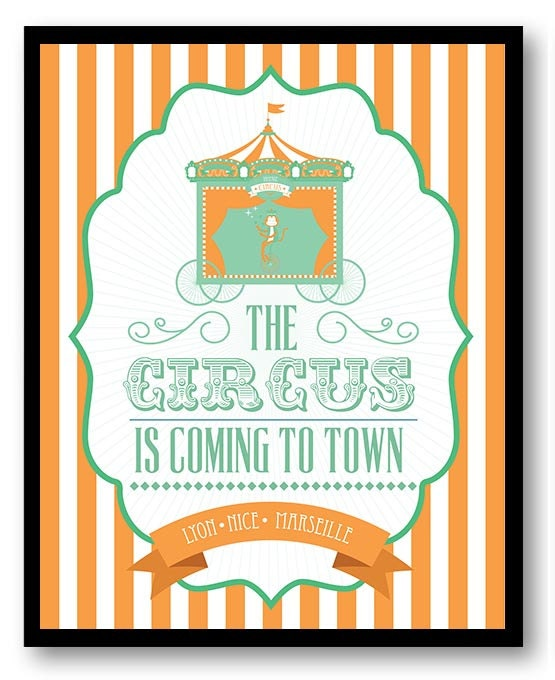 The Circus is Coming to Town Nursery Art Old Carnival Nursery Print Child Baby Art Vintage Fair Circ