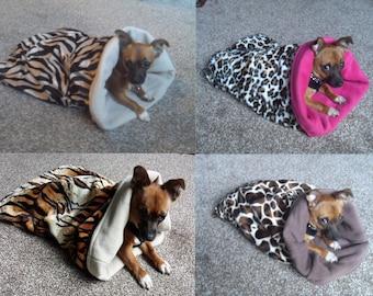 Dog Snuggle sack bed bag blanket.
