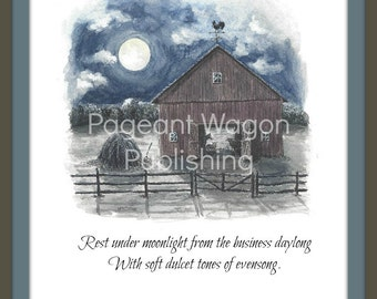 Limited Edition Art Print: The Barn at Evensong from Fable Springs Parables