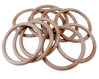 "Proops Macrame Rings Wood Effect 101mm 4"" Pack of 10. (S7329) Free UK Postage."