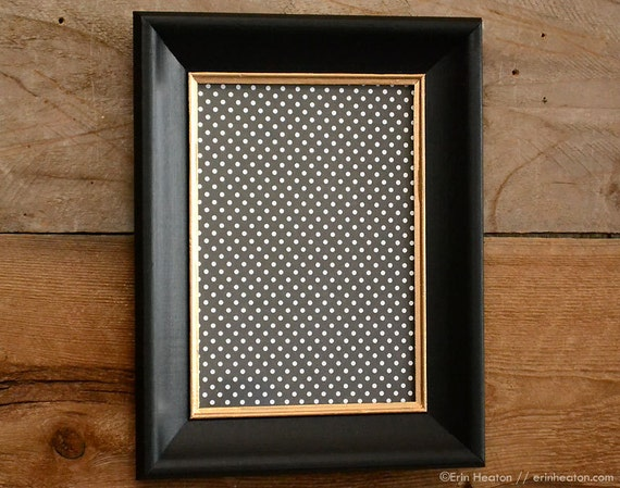5x7 black and gold upcycled wood picture frame black and gold. Black Bedroom Furniture Sets. Home Design Ideas