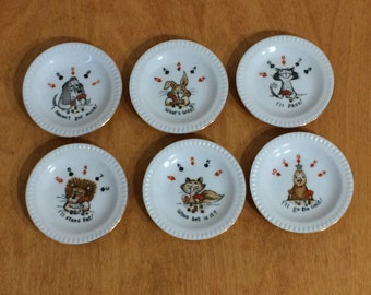Poker Plates - Animal Playing Card with a Poker Sayings