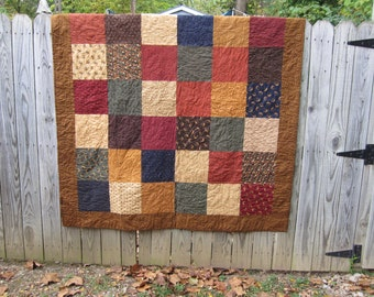 Fall Themed Big Block Quilt