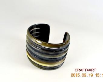 Buffalo Horn Cuff Bracelet Handmade