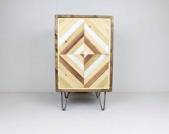 Walnut Rustic, Industrial, Mid Century Modern Nightstand, End table, Cabinet, Vanity, Side Table, Beside Table, Hairpin Leg, Reclaimed