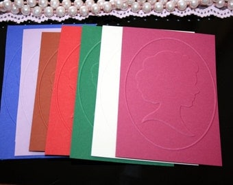 25 Embossed Cardstock.  Colorful Embossed Cardstock. Cameo embbosed pattern. Scrappbbok.