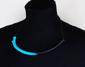 Real canine rib bone necklace - choose chain and bone colour!