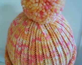 Pink & Orange Winter Hat