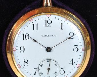 Waltham Antique Pocket Watch-Mint w/Box