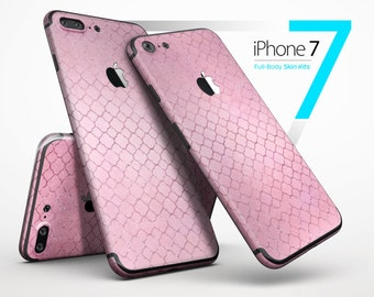 Blushed Pink Morrocan Pattern - Skin Kit for the iPhone 7 or 7 Plus, 6 or 6s Plus, 5/5s/SE, 5c & More