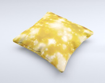 The Glowing Golden Light ink-Fuzed Decorative Throw Pillow