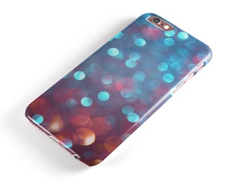 Unfocused Blue and Red Orbs -  iNK-Fuzed Hard Case for the Apple iPhone - Samsung Galaxy & More