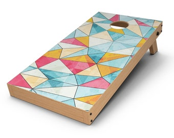 Triangular Geometric Pattern - Cornhole Board Skin Kit