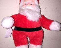Vintage SANTA Claus PLUSH Doll Toy ~ SUPERIOR Toy & Novelty
