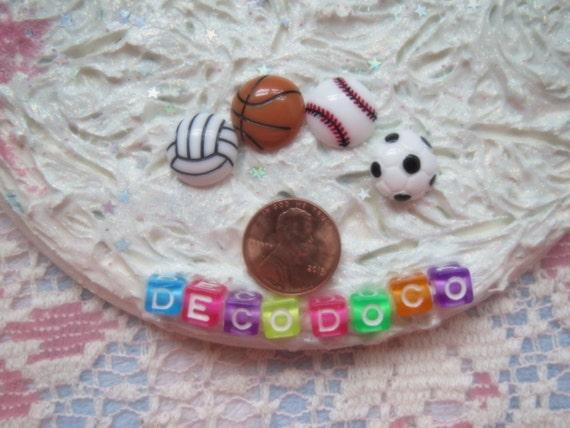 0: )- CABOCHON -( SPORTS Balls Vollyball Soccer Basketball Baseball