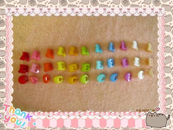 0: )- CABOCHON -( Rainbow ABC word letter