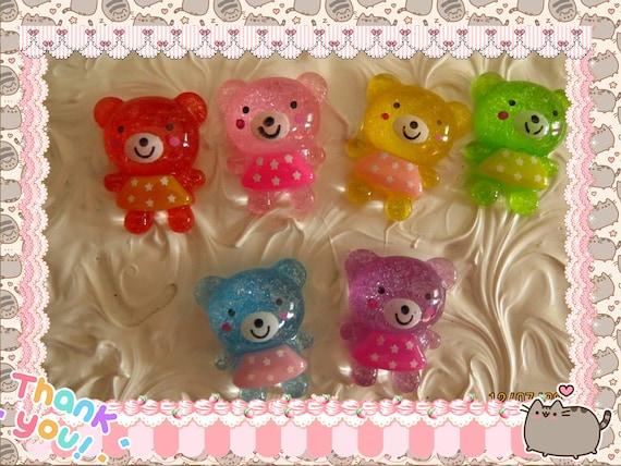 0: )- CABOCHON -( Rainbow Teddy Bears