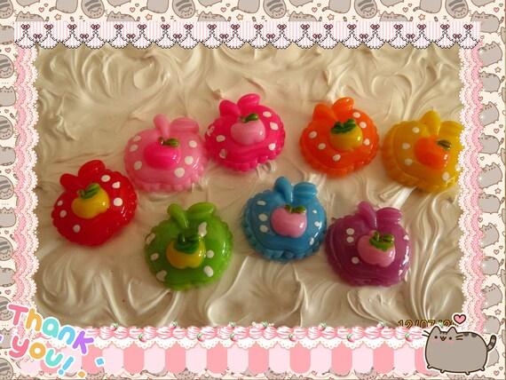 0: )- CABOCHON -( Rainbow Apple  Apples