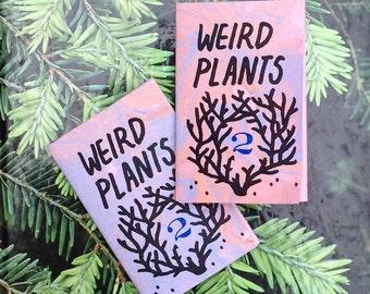 Weird Plants 2 - Folding art zine.