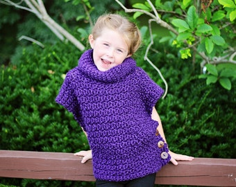 Hand crocheted Aura Pullover cowl neck sweater vest Custom