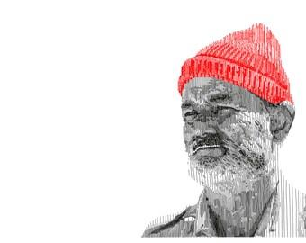 Steve Zissou - Print on 200 gsm Paper