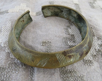 BRONZE African Ankle bangle / trade bangle