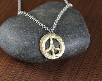 Rustic Romantic  ~ Peace Sign ~ Pendant Necklace