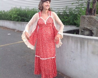 Red Gunne Sax maxi dress