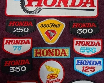 12 Different Honda Patch Lot