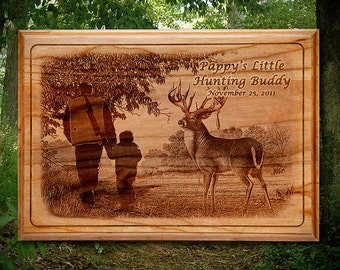 Laser engraved Picture Plaque on solid Wood