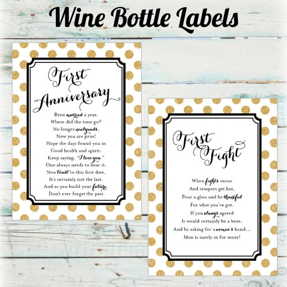 Wedding Milestone Wine Labels A Year Of Firsts Wine: Milestone Wine Bottle Labels Firsts Wine Bottle Labels
