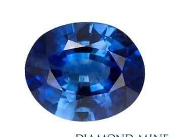 A Beautiful NaturalSapphire 1.25 Blue Oval AA