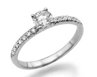 Platinum Diamond Ring Diamond Engagement Ring, Platinum, Diamond Gold Ring, Solitaire Ring