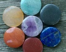 7 Piece Chakra Stone Disc Set
