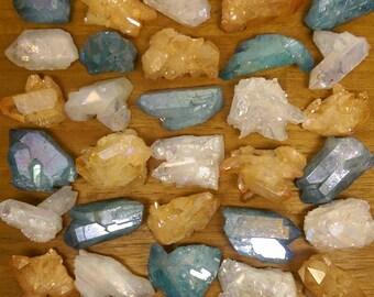 Aura Quartz Crystal (Select your color)