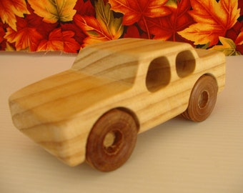 Handcrafted wooden Sedan car
