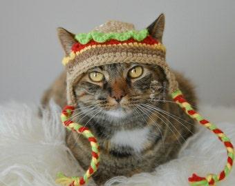 Cat Hat Hamburger Pet Hat Made to Order