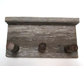 Barn wood shelf and coat rack.  Ready to ship rustic home storage and organizer.  Coat rack with shelf.  Rustic home decor.