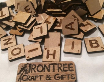 SCRABBLE LETTER TILES - pack of 100 assorted or buy 6 mix & match