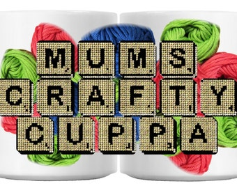 MUMS CRAFTY CUPPA ceramic 11oz mug