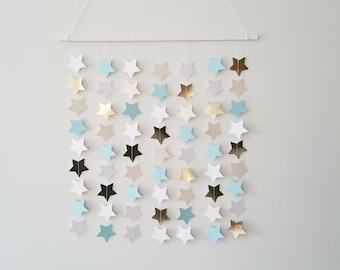 SALE - SALE Twinkle Twinkle Star Mobile - Blue and Gold