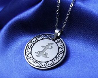Glow in the Dark Parabatai Rune Amulet Necklace Stainless Steel Glows Necklace Glowing in the Dark Best Friend Parabatai Necklace