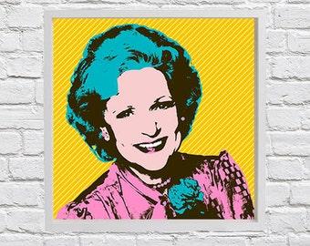 Golden Girls Rose pop art print