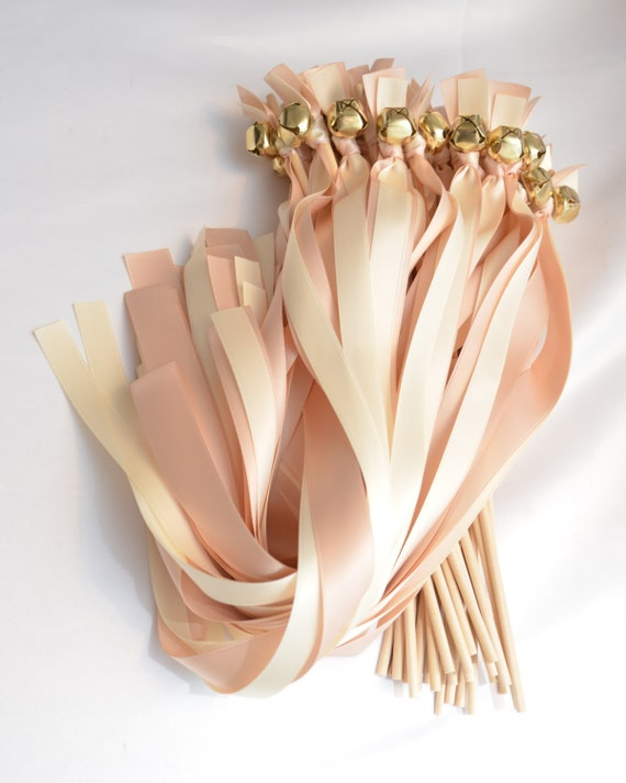 New Style 150 Send Off Ribbon Bell Wands Mixed Size