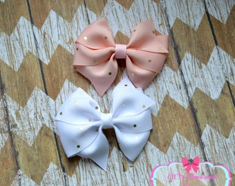 Pink White and Gold Pinwheel Set