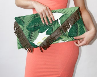 Angy Over Size Palm leaf Clutch