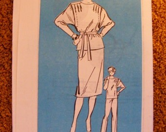 Slouchy Top / Blouse / Skirt / Pants Uncut 1980s Mail Order Anne Adams Sewing Pattern 4111 Size 10 12 14