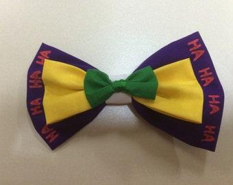 Joker Inspired Hairbow