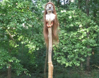 Shrunken Head Staff